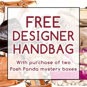 FREE DESIGNER HANDBAG with mystery box purchases